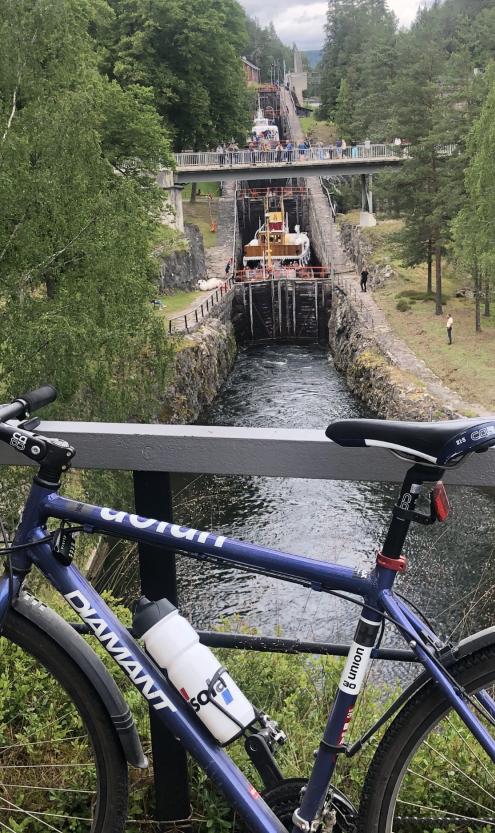 Ulefoss til Vrangfoss med sykkel